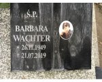 Cmentarz Grabiszyn we Wrocławiu Barbara Wachter, z domu Deutschman (26.11.1949-21.07.2019)